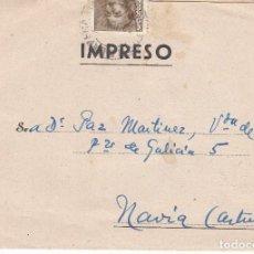 Sellos: CARTA: 1949 ELDA - NAVIA / PEDRO BELLOD PAYA S.A.. Lote 86473400