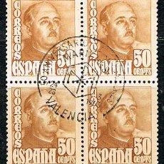Sellos: EDIFIL Nº 1022, EL GENERAL FRANCO, NUEVO *** EN BLOQUE DE 4. Lote 86662092