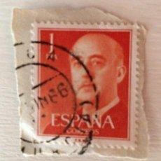 Sellos: SELLO SPAIN FRANCO 1 PESETA USADO MATASELLOS DE 1966. Lote 86971868