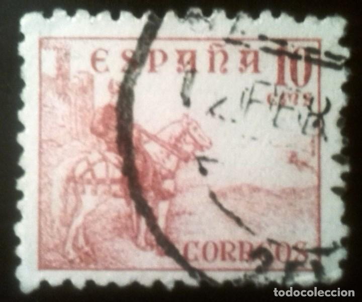 EDIFIL 917 CIFRAS Y EL CID (1940) (Sellos - España - Estado Español - De 1.936 a 1.949 - Usados)