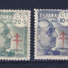 Sellos: EDIFIL 936-939 PRO TUBERCULOSOS 1940 (SERIE COMPLETA) (VARIEDAD...CRUZ DESPLAZADA EN EL 936). MNH **. Lote 89052416
