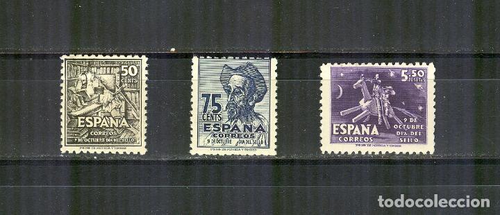 EDIFIL 1012/14 CENTENARIO CERVANTES QUIJOTE 1947 NUEVOS NORMAL CENTRADOS (Sellos - España - Estado Español - De 1.936 a 1.949 - Nuevos)