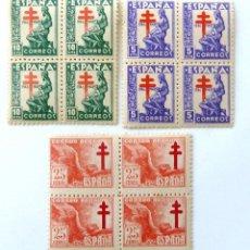 Sellos: SELLOS ESPAÑA 1946. EDIFIL 1008/10. NUEVOS. BLOQUE DE CUATRO. PRO TUBERCULOSOS.. Lote 90767590