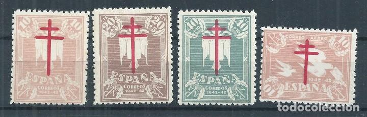 R16/ ESPAÑA NUEVOS * MH, 1942, EDF. 957/60, CAT. 15,00 €, PRO TUBERCULOSOS (Sellos - España - Estado Español - De 1.936 a 1.949 - Nuevos)