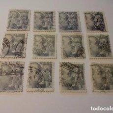 Sellos: LOTE DE SELLOS DE 1 PESETA - 1940 - 1945 - VARIEDAD COLOR GENERAL FRANCO. Lote 93677970