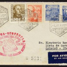Sellos: ESPAÑA 1949 SOBRE - II CENTENARIO FRAY JUNIPERO SERRA. PRIMER VUELO AÉREO DIRECTO CORREO AÉREO DE M. Lote 95291458