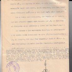 Sellos: 1943 COLEGIO NOTARIAL MADRID HABILITADO ROJO 6 PTAS SELLO FISCAL LEGALIZACIONES 3 PTS EN ESCRITURA. Lote 95858623
