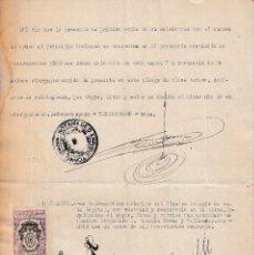 Sellos: 1940 COLEGIO NOTARIAL MADRID HABILITADO NEGRO 6 PTAS SELLO FISCAL LEGALIZACIONES 3 PTS EN ESCRITURA. Lote 95860371