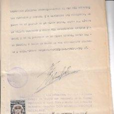 Sellos: 1946 COLEGIO NOTARIAL MADRID SELLO FISCAL LEGALIZACIONES 6,25 PTS EN ESCRITURA. Lote 95861311