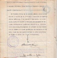 Sellos: 1940 COLEGIO NOTARIAL BALEARES SELLO FISCAL PARA LEGALIZACION 6 PTS. JOSE ORLANDIS ROVIRA ESCRITURA. Lote 95866403