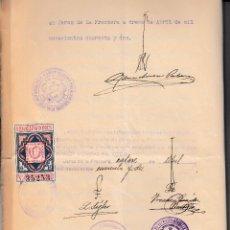 Sellos: 1942 COLEGIO NOTARIAL SEVILLA SELLO FISCAL LEGALIZACIONES 6 PTS. EN ESCRITURA. Lote 95868447