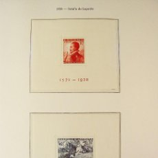 Sellos: ESPAÑA 1937 1ER ANIVERSARIO DEL ALZAMIENTO NACIONAL 2 HOJITAS BLOQUE EDIFIL 836/837. Lote 96676367