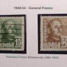 Sellos: SERIE COMPLETA GENERAL FRANCO 1948-54. Lote 96741731