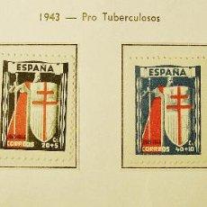 Sellos: 1943 PROTUBERCULOSOS, EDIFIL Nº 970 A 973. NUEVOS, CENTRADO LUJO, SIN FIJASELLOS. Lote 104174999