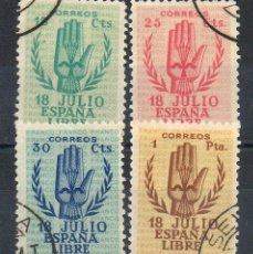 Sellos: ESPAÑA=EDIFIL Nº 851/54=ALZAMIENTO NACIONAL=MATASELLADOS. Lote 96858867
