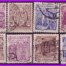 Sellos: 1944 MILENARIO DE CASTILLA, EDIFIL Nº 974 A 982 SIN 979 (O). Lote 97067771