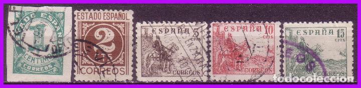 1940 CIFRAS Y CID, EDIFIL Nº 914 A 918 (O) COMPLETA (Sellos - España - Estado Español - De 1.936 a 1.949 - Nuevos)