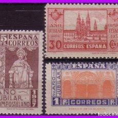 Sellos: 1937 AÑO JUBILAR COMPOSTELANO, EDIFIL Nº 833 A 835 *. Lote 97357039