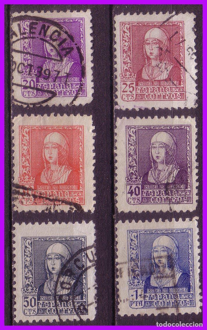 1938 ISABEL, EDIFIL Nº 855 A 860 (O) COMPLETA (Sellos - España - Estado Español - De 1.936 a 1.949 - Nuevos)