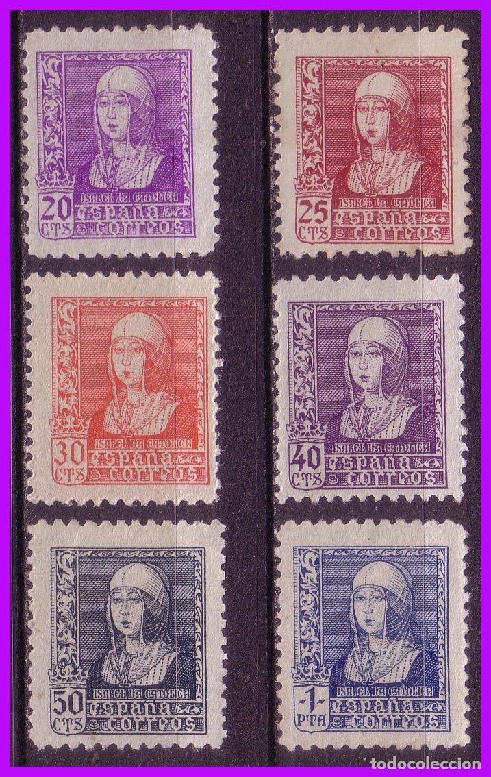 1938 ISABEL, EDIFIL Nº 855 A 860 * COMPLETA (Sellos - España - Estado Español - De 1.936 a 1.949 - Nuevos)