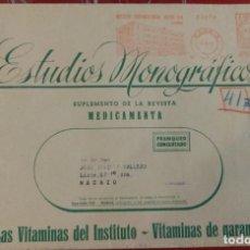 Sellos: SOBRE GRANDE CON FRANQUEO CONCERTADO. ESTUDIOS MONOGRÁFICOS. MEDICAMENTO. FARMACIA. PUBLICIDAD.. Lote 97432843