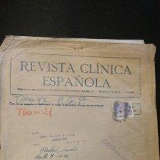 Sellos: SOBRE CON FRANQUEO CONCERTADO. REVISTA CLINICA ESPAÑOLA. 31 X 24 CM. Lote 97614975