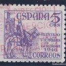 Sellos: EDIFIL 1062 PRO VÍCTIMAS DE LA GUERRA 1949. MATASELLOS DIR. COMERCIO Y POLÍTICA ARANCELARIA. LUJO.. Lote 97915643