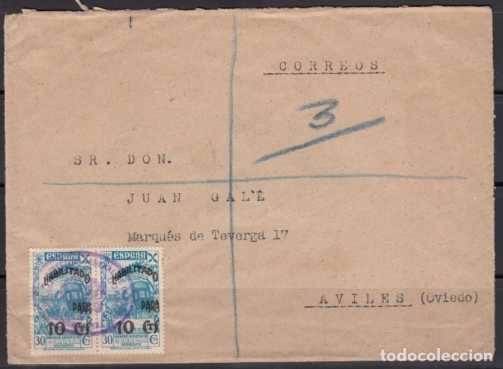 FRANQUICIA DIRECCIÓN GENERAL DE CORREOS Y TELECOMUNICACIÓN , SELLOS DE BENEFICENCIA (Sellos - España - Estado Español - De 1.936 a 1.949 - Cartas)