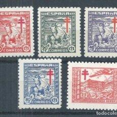 Sellos: R17/ ESPAÑA EDIFIL 984/88, MH * , 1944, CATALOGO 28,75€, CON GOMA, (CHARNELA). Lote 98640291