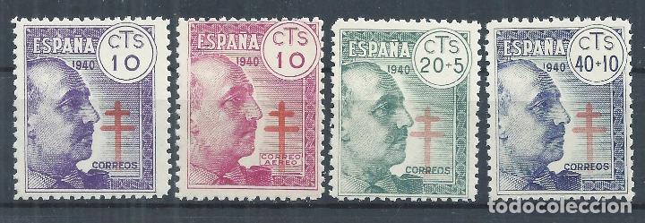 TV_003.G31 / FRANCO 1940, PRO TUBERCULOSOS, EDF. 936/39, NUEVOS ** CON GOMA SIN CHARNELA (Sellos - España - Estado Español - De 1.936 a 1.949 - Nuevos)
