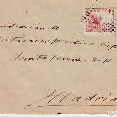 Sellos: CARTA CON MATASELLOS DE ROMBO Y ESTRELLA , AL DORSO FRANQUICIA DE SANIDAD DE PALENCIA 1942 . Lote 99750795
