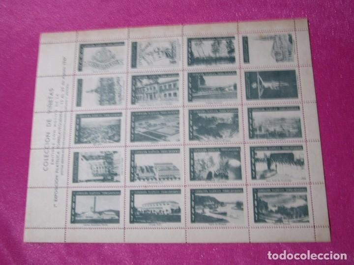 Sellos: 1ª EXPOSICION FILATELICA TORRELAVEGUENSE 20 VALORES BLOQUE COMPLETO Y UNIDO CON GOMA AÑO 1947 - Foto 3 - 99831363