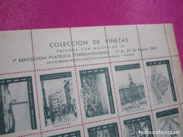 Sellos: 1ª EXPOSICION FILATELICA TORRELAVEGUENSE 20 VALORES BLOQUE COMPLETO Y UNIDO CON GOMA AÑO 1947 - Foto 4 - 99831363