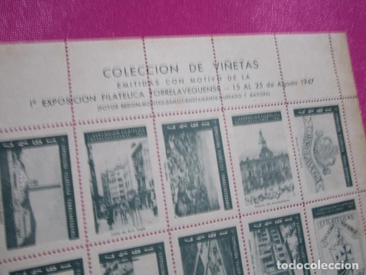 Sellos: 1ª EXPOSICION FILATELICA TORRELAVEGUENSE 20 VALORES BLOQUE COMPLETO Y UNIDO CON GOMA AÑO 1947 - Foto 5 - 99831363