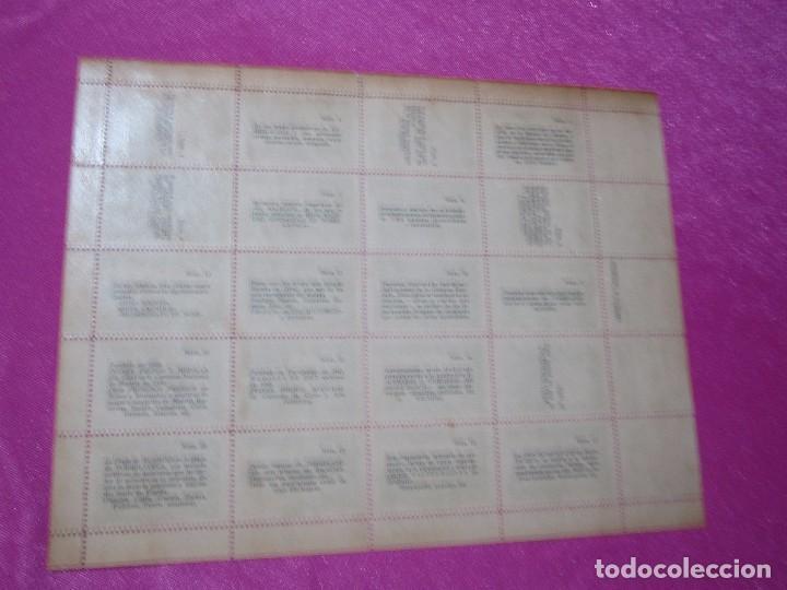 Sellos: 1ª EXPOSICION FILATELICA TORRELAVEGUENSE 20 VALORES BLOQUE COMPLETO Y UNIDO CON GOMA AÑO 1947 - Foto 8 - 99831363