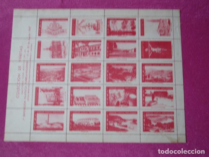 1ª EXPOSICION FILATELICA TORRELAVEGA 20 VALORES BLOQUE COMPLETO 1947 (Sellos - España - Estado Español - De 1.936 a 1.949 - Nuevos)