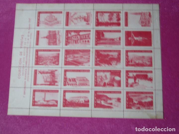 Sellos: 1ª EXPOSICION FILATELICA TORRELAVEGA 20 VALORES BLOQUE COMPLETO 1947 - Foto 2 - 99832459