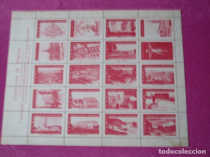 Sellos: 1ª EXPOSICION FILATELICA TORRELAVEGA 20 VALORES BLOQUE COMPLETO 1947 - Foto 3 - 99832459