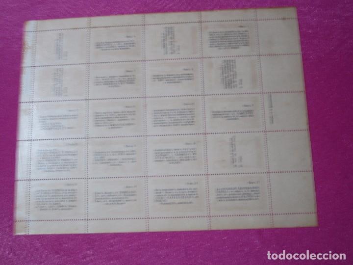 Sellos: 1ª EXPOSICION FILATELICA TORRELAVEGA 20 VALORES BLOQUE COMPLETO 1947 - Foto 5 - 99832459