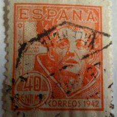 Sellos: SELLO 1942. CENTENARIO SAN JUAN DE LA CRUZ 40 CTS.. Lote 100044239