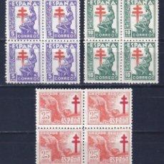 Sellos: EDIFIL 1008-1010 PRO TUBERCULOSOS 1946 (SERIE COMPLETA). MNH **. Lote 100209267
