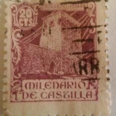 Sellos: SELLO MILENARIO DE CASTILLA 1944 20 CTS.. Lote 101072747