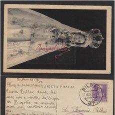 Sellos: POSTAL VIZCAYA - VIRGEN NUESTRA SEÑORA DE BEGOÑA - AÑO 1939 -FHER - CENSURA MILITAR BILBAO. Lote 102966159