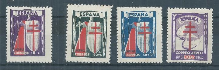 R25/ ESPAÑA NUEVOS ** , 1943, EDF. 970/73, CAT. 25,00€, PRO TUBERCULOSOS (Sellos - España - Estado Español - De 1.936 a 1.949 - Nuevos)