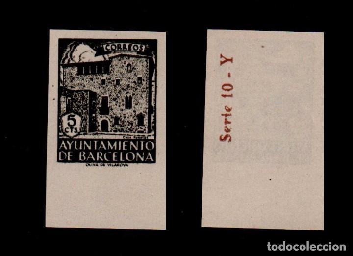 00A3-10-1 AYUNTAMIENTO DE BARCELONA CASA PADELLAS EDIFIL Nº 46S VARIEDAD SIN NUMERACION SIN DENTAR (Sellos - España - Estado Español - De 1.936 a 1.949 - Nuevos)