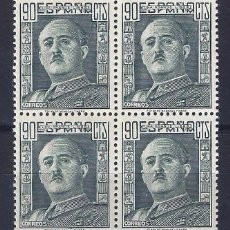 Sellos: EDIFIL 1060 GENERAL FRANCO 1949-1953 (BLOQUE DE 4). MNH **. Lote 104674130