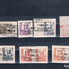 Sellos: ESPAÑA GRUPO BONITOS FRAGMENTOS 1937-1940. Lote 104315443