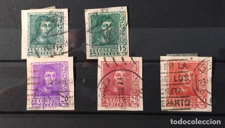 AÑO 1938 MUY RAROS. FERNANDO EL CATÓLICO, Nº 841, 841A, 842, 843 Y 844. (Sellos - España - Estado Español - De 1.936 a 1.949 - Usados)