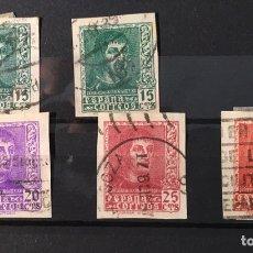 Sellos: AÑO 1938 MUY RAROS. FERNANDO EL CATÓLICO, Nº 841, 841A, 842, 843 Y 844.. Lote 105600288