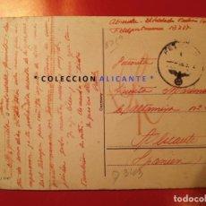 DIVISIÓN AZUL - ALICANTE - CIRCULADA DESDE EL FRENTE RUSO - POSTAL TAL FOTO